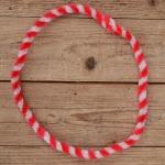 Nabenputzring, rot-weiß, flauschig, L=52cm, für Moped und Fahrrad, Drahteinlage, ablängbar