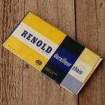 """Rennrad Kette """"RENOLD DERAILLEUR"""", 1/2"""" x 3/32"""", 116 Gld. NOS"""