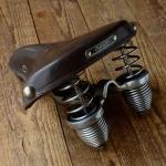 LEPPER Elasco -  DR Sattel für Fahrradklassiker oder Hilfsmotor, rare, alte Neuware, 50er J., chrom