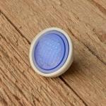 Rückstrahler, Kunststoffgehäuse, blauer Strahleneinsatz