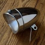"Scheinwerfer ""DAIMON"", orig. 50/60er Jahre, verchromt, rarer orig.  Altbestand aus altem Depot"