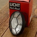 """Scheinwerfer """"FER"""", Kunststoff schwarz, D=70mm, ohne Halter, mit integriertem Frontrückstrahler"""