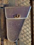 Werkzeugtasche ANKER Herrenrad, Lefa, braun, orig. 40er Jahre, altersbed.  Patina
