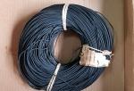 Kabel, Meterware,   gewebeisoliert,  schwarz, orig. 20-50er Jahre, rare, alte Ausführung