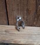 Gegenhalter Schelle, für Schaltzug am Hinterbau Rennrad , Shimano, verchromt, D=12-13mm