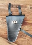 Werkzeugtasche, Lefa, schwarz,  Beschläge vernickelt, passend für viele Herrenfahrradklassiker, deutsche Fertigung.