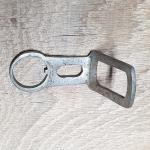 Carbidlaternenhalter, vernickelt, gebraucht mit Patina, s. Bilder,  orig. 10-30er Jahre, Montage am Steuersatz