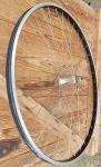 """Vorderrad, 28 """", Alufelge für Drahtreifen, Sport-Rennrad, 2 mm Speichen, alte Neuware!"""