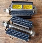 """Pedalen """"Wippermann TOLO"""", Herrenausführung mit Echtglasr Reflektoren, vernickelt,  rare alte Neuware,  orig.30er Jahre."""