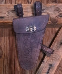 Werkzeugtasche, echtes Leder, antikbraun, Beschläge vernickelt, passend für viele 20-60er Jahre Herrenfahrradklassiker