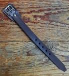 Lederriemchen, antikbraun, 15,5 cm Länge,  Lederunterlage unter der Schnalle, hochwertige Handarbeit!