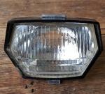 """Einsatz f. Frontscheinwerfer """"Typ IKU"""" für Mopeds, Echtglas Streuscheibe, alte Neuware, pass. für 6 V, 15 W"""