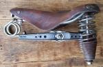 """Sattel """"IDEALE"""" Type 303, Tourensattel, Leder braun Länge 26,5  cm, Breite 20 cm, unrestauriert"""