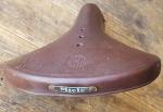 "Sattel ""MIELE "" Moped (Wittkop) , 50er J., Gummibezug braun, Länge 25  cm, Breite 24 cm, unrestauriert"