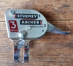 "Schalthebel ""Sturmey Archer"" 3-Gang, verchromt, orig. 60-80er Jahre"