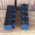 Bremsklötze für Rennradklassiker / Sportrad,  MAFAC RACER, COMPETITION, orig. Satz 4 Stück, schwarz, ca. 46 x 11 mm