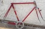 "Fahrradrahmen ""BAUER"",  Rennrad, 28 Zoll , RH=58 cm, orig. 50er J., incl. Stronglight Tretlager"