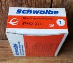 Fahrrad - Schlauch, 12 1/2 x 1.75-1.90 / 2 1/4  (47/62-203), SV, Restbestand  Sonderpreis
