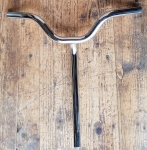 Lenker, Kinderrad 50-70er J. ,NOS,  verchromt, 22 mm, Breite 43,5 cm, Gesamthöhe incl. Schaft. . ca. 43 cm