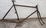 """Fahrradrahmen """"OPEL"""" Herrenausf. 28 Zoll, incl. orig. Gabel und Tretlager, RH=57,5 cm cm, 20er Jahre"""