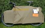 Transport Verpackung für Fahrräder, grün, orig. DIAMANT, gebraucht. Schnell aufgelegt und Fahrrad sicher transportiert !