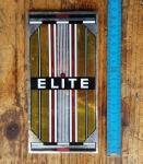 """Aufkleber """"ELITE"""", Sattelrohr, Chromfolie, passend für 60-80er Jahre Fahrräder, orig. alte Neuware, Maße siehe Bild"""