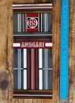 """Aufkleber """"Ansgari"""", Grossistenmarke für Sattelrohr, Chromfolie, passend für 60-80er Jahre Fahrräder, orig. alte Neuware, Maße siehe Bild"""