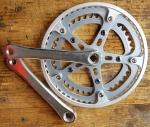 """Kurbelgarnitur 2-fach, """"SUGINO Japan"""", für Tretlager mit Vierkantachse, , Kurbel 170 mm, Kettenblatt 52/42 Zähne"""