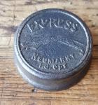 """Fahrrad Klingel Deckel """"EXPRESS"""", orig. 30/40er Jahre, ohne Unterteil, ggf. Gebrauchsspuren, siehe Bild"""