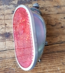 Blechrücklicht 60/70er Jahre u. Steckfassung, gebraucht, funktionstüchtig