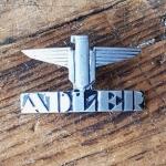 "Schutzblechwappen ""ADLER"" für Schutzblech hinten, orig. 50er Jahre, rare alte Neuware !"