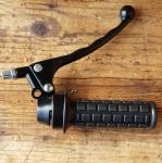 Gasgriff m. Bremshebel, universell für. Hilfsmotor, Mofa und  Moped mit 22 mm Lenker, schwarz