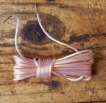 Kabel f. Rücklicht, transparent, orig. Altbestand, Enden verzinnt, ohne Blechhaken, typisches Kabel der 60-70er Jahre