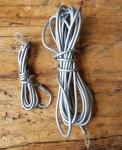 Kabelsatz grau, orig. Altbestand 50-60er J., mit  Blechhaken gem. Abbildung
