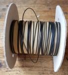 Kabel Meterware, schwarz, D=1.3mm, Kabelösen etc. findet ihr dazu passend im SHOP