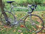 Rennrad, handgefertigt aus Columbusrohr, verchromt, 28 Zoll, Bj. 80er Jahre, Campagnolo-Shimano Teilemix, RH: 61 cm