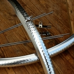 """Schutzbleche / Kotschützer """"gehämmert"""", 28 Zoll, Aluminium Lightweight, Breite: 36mm, ideal für Rennrad u. Randonneur"""