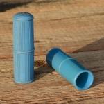 """Kunststoffgriff """"AHA"""", hellblau, 22mm, 60/70er Jahre, orig Altbestand"""