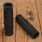 Griffbezug Motorfahrrad, Gummi, schwarz, ballige Form, L: 133 mm, Durchmesser: 22 mm, beidseitig offen