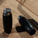 "Fahrradgriff ""AHA"", schwarz, mit Chromkappe, 22mm, orig Altbestand, Länge 85mm"