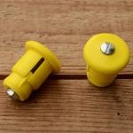 """Lenkerendstopfen """"UNIVERSELL"""", gelb, Kunststoff, orig. Altbestand"""