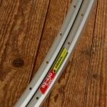 """Felge f. Drahtreifen """"ARAYA RS-430 Japan"""", 28"""" (622) 700C, Alu silber, 36 Loch, ungeöst, 19mm breit"""