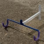 """Wandhalter Oberrohr / Fahrrad - Halter , """"CYCLUS"""", Stahl weiss-blau, Breite 39cm Tiefe 32cm"""