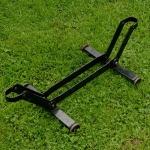 """Ausstellungs Ständer, """"Rollenständer"""", Stahl schwarz, Länge 58cm Breite 29cm Höhe 18cm, gebraucht, Maulweite ca. 4cm"""