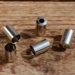 Abschlußhülse / Endkappe, D=7.0/6.5mm L=11mm, Messing vernickelt
