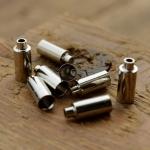 Abschlußhülse / Endkappe, D=5.0/4.1/2.9mm L=12.5mm, Bohrung 2.5mm, abgesetzt, Messing vernickelt