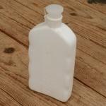 """Trinkflasche """"ATOX"""", f. Trikottasche, flache Form, weiß, Kunststoff, orig. Altbestand"""