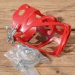 Halter für Trinkflasche, rot, Kunststoff, zur Rahmenmontage, incl. 2 Schellen, NOS