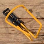 Halter für Trinkflasche, gelb, Alu / Kunststoff, zur Rahmenmontage, NOS