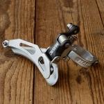 """Umwerfer """"MAVIC"""", 2-fach, Aluminium, mit Klappschelle für 29mm Rohr, 70/80er Jahre,  NOS"""